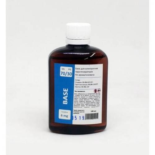 Жидкость-база для электронных сигарет 6 мг 70/30 100 мл