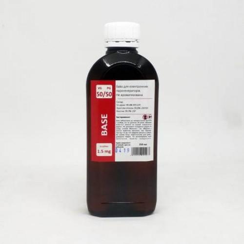 Жидкость-база для электронных сигарет 1.5 мг 50/50 250 мл