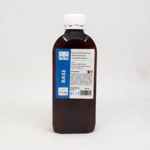 Жидкость-база для электронных сигарет 1.5 мг 70/30 250 мл