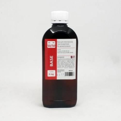 Жидкость-база для электронных сигарет 0 мг 50/50 250 мл