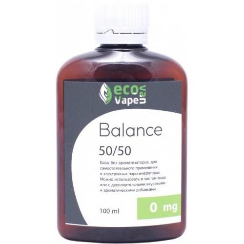 Жидкость-база для электронных сигарет Eco Van Vape Balance 0 мг 50/50 100 мл