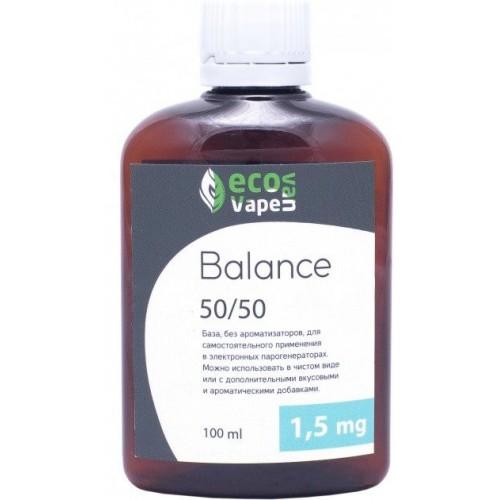 Жидкость-база для электронных сигарет Eco Van Vape Balance 1,5 мг 50/50 100 мл