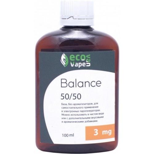 Жидкость-база для электронных сигарет Eco Van Vape Balance 3 мг 50/50 100 мл