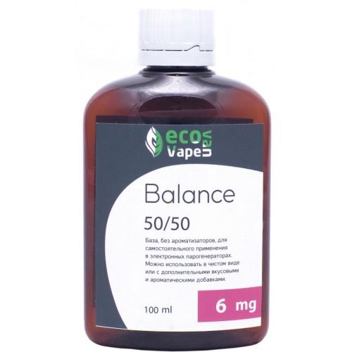 Жидкость-база для электронных сигарет Eco Van Vape Balance 6 мг 50/50 100 мл
