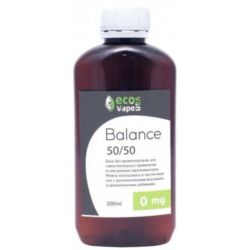 Жидкость-база для электронных сигарет Eco Van Vape Balance 0 мг 50/50 200 мл