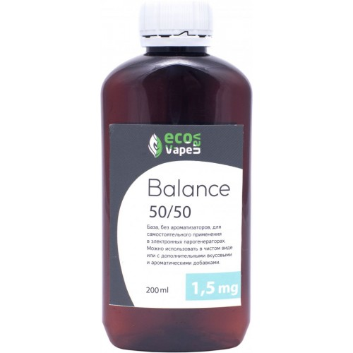 Жидкость-база для электронных сигарет Eco Van Vape Balance 1,5 мг 50/50 200 мл