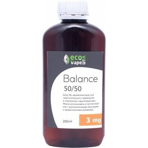 Жидкость-база для электронных сигарет Eco Van Vape Balance 3 мг 50/50 200 мл
