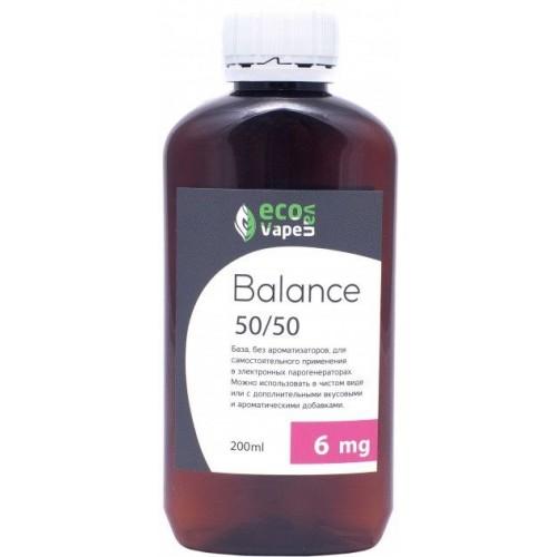 Жидкость-база для электронных сигарет Eco Van Vape Balance 6 мг 50/50 200 мл