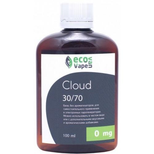 Жидкость-база для электронных сигарет Eco Van Vape Cloud 0 мг 30/70 100 мл