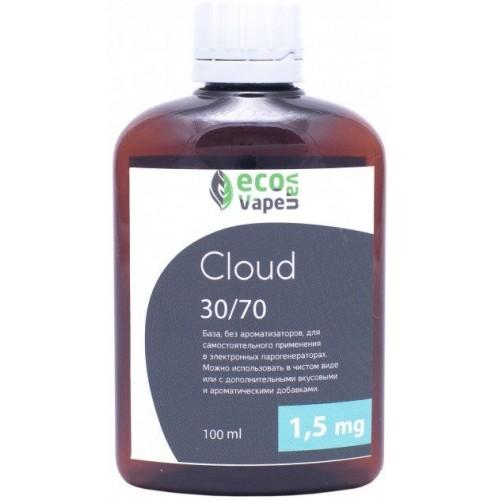 Жидкость-база для электронных сигарет Eco Van Vape Cloud 1,5 мг 30/70 100 мл