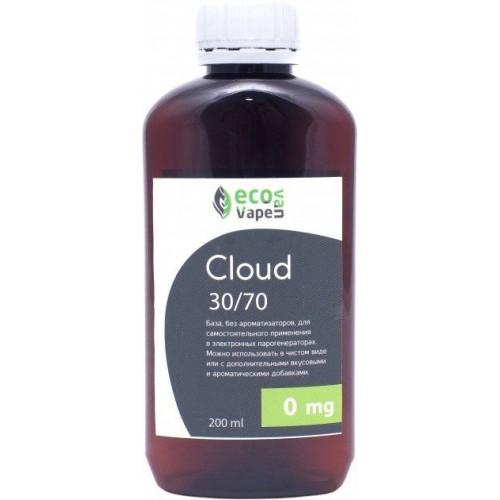 Жидкость-база для электронных сигарет Eco Van Vape Cloud 0 мг 30/70 200 мл