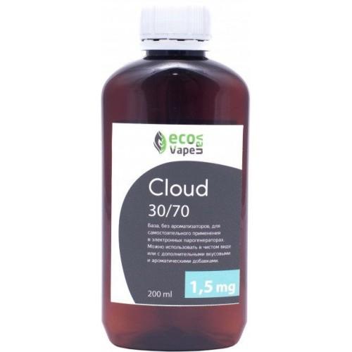 Жидкость-база для электронных сигарет Eco Van Vape Cloud 1,5 мг 30/70 200 мл