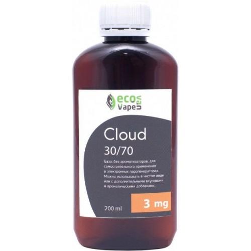 Жидкость-база для электронных сигарет Eco Van Vape Cloud 3 мг 30/70 200 мл