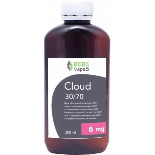 Жидкость-база для электронных сигарет Eco Van Vape Cloud 6 мг 30/70 200 мл