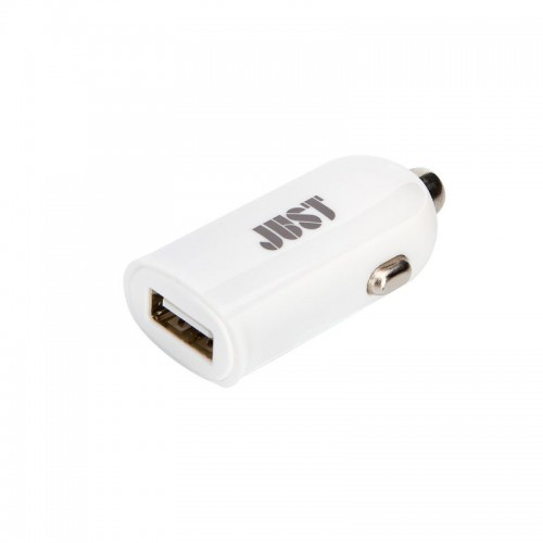 JUST Me2 USB Car Charger (2.4A/12W, 1USB) White