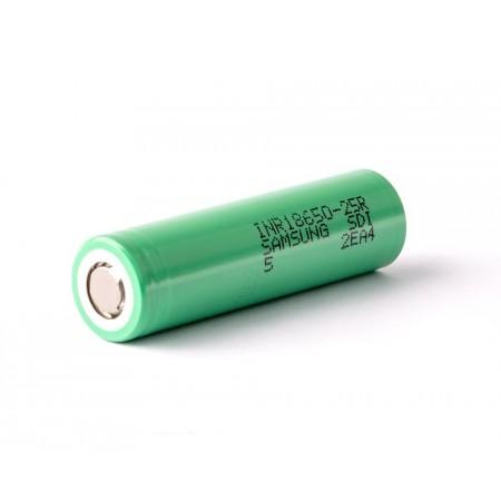 Samsung INR18650-25R 2500mah (green, до 30А)