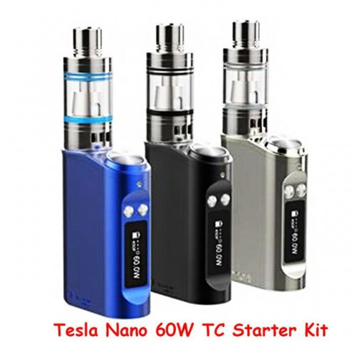 Tesla Nano 60w tc starter kit (shadow tank) BLACK