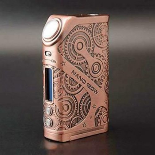 TESLA Steampunk Nano 120w Mod antique copper
