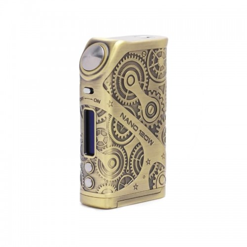 TESLA Steampunk Nano 120w Mod antique brass
